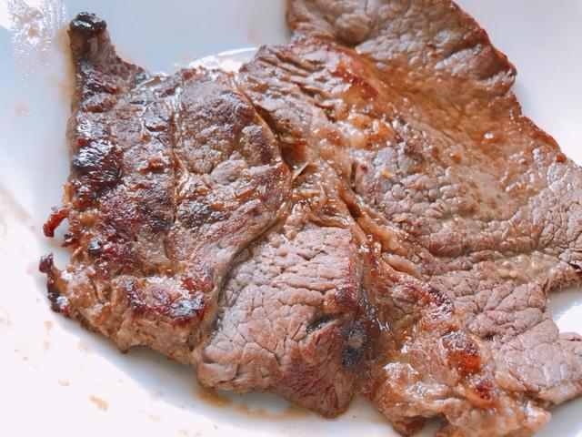 ライザップ3日目の食事内容。ステーキを食す!タンパク質のとりすぎに注意
