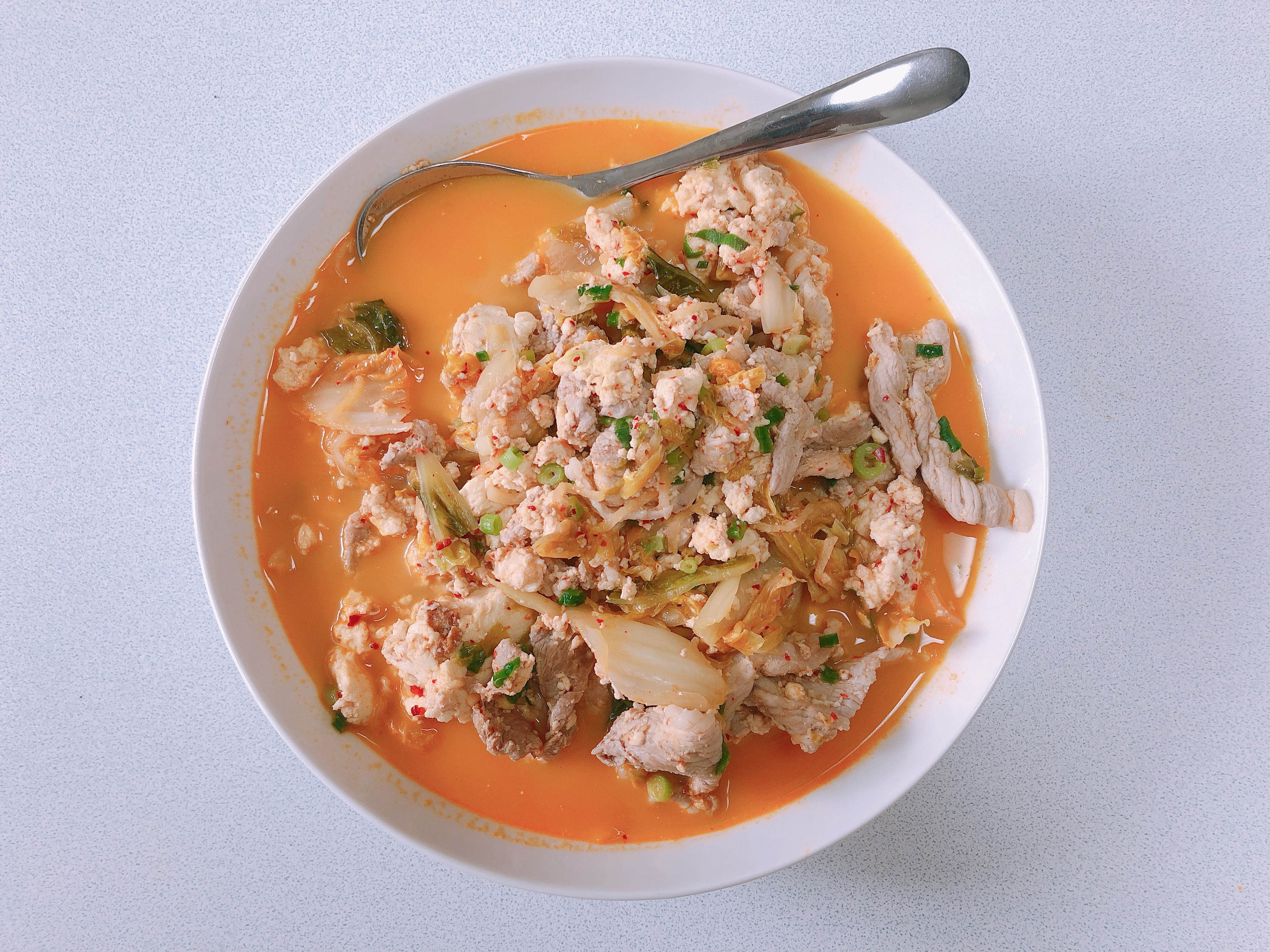ライザップ27日目の食事。豚キムチ豆腐が旨い!糖質5.4g